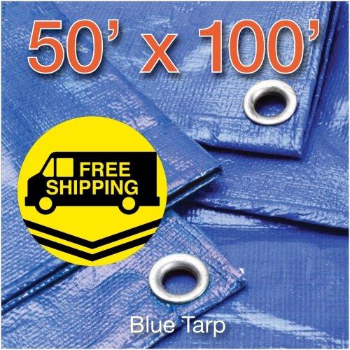 P-Line Blue Poly Tarps 50' x 100'