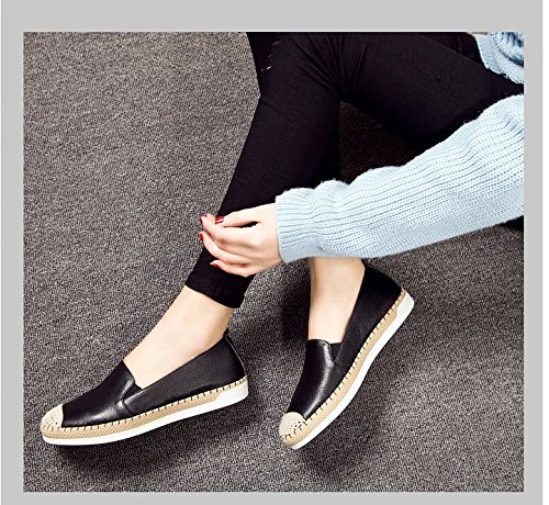 Zapatos planos de cuero/Zapatos del ocio perezoso A