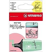 Marca Texto Boss Mini Pastellove, Stabilo 55.3100, Azul/Verde/Rosa, Pacote de 3