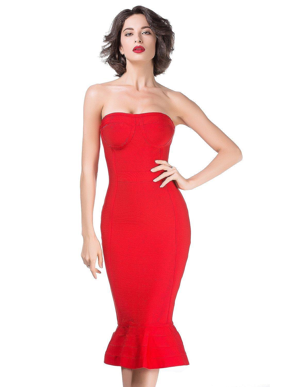 09e07fa771 Red Bodycon Mermaid Prom Dress - Gomes Weine AG