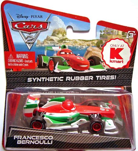 Disney Pixar CARS 2 FRANCESCO Synthetic Rubber Tires no. 1 O
