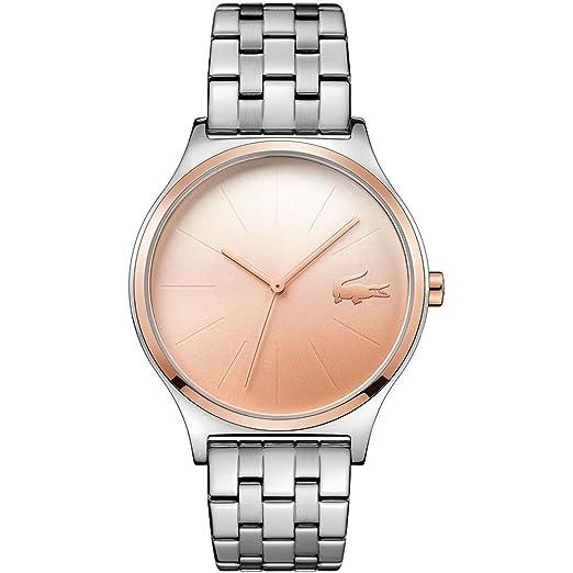 Lacoste Reloj Análogo clásico para Mujer de Cuarzo con Correa en Acero Inoxidable 2000993: Lacoste: Amazon.es: Relojes