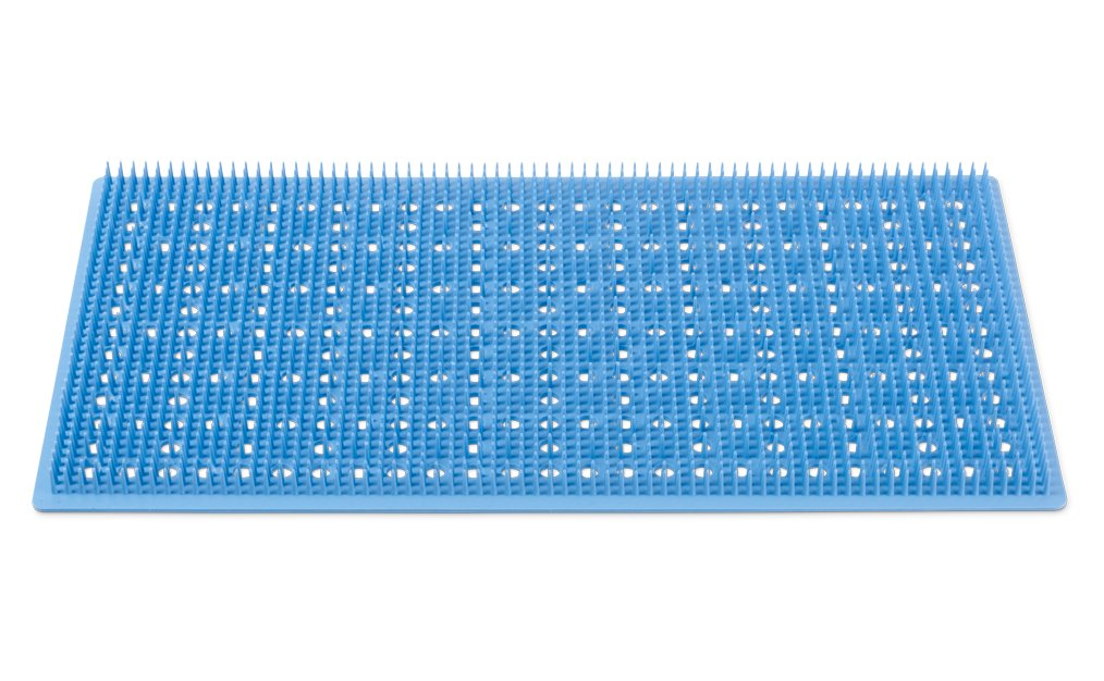 Key Surgical FM-1810 Silicone Finger Mat, 18.2'' x 10.2'', Blue