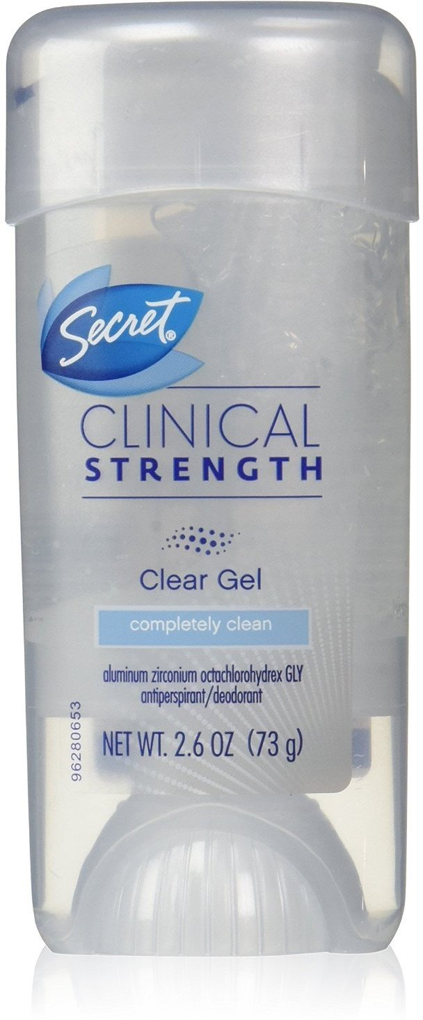 Secret Clinical Strength Clear Gel Antiperspirant & Deodorant, Completely Clean 2.6 oz (Pack of 12)