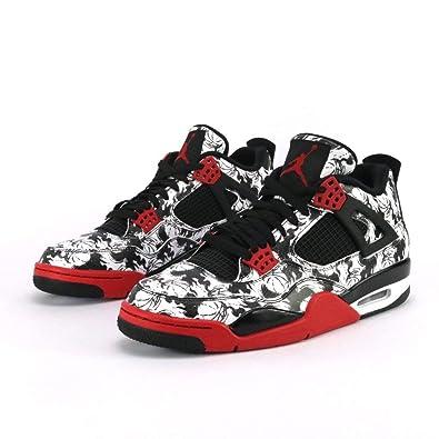 half off 3fc34 85560 Mr.SHOES Air Jordan 4 Retro Tattoo Black Fire Red Black White (UK