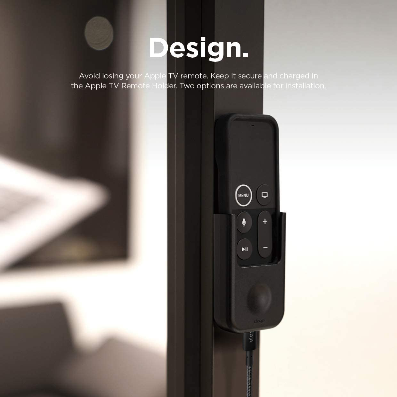 elago Apple TV Multi Mount Bundle with Apple TV Remote Holder - Compatible with All Apple TVs Including Apple TV 4K / HD