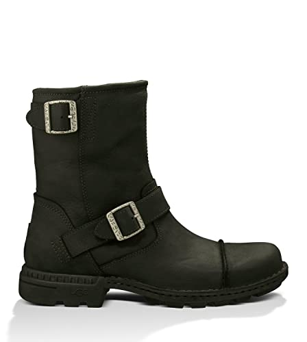 dab699d67a0 UGG Men's Rockville II Black Leather Boot: Amazon.co.uk: Shoes & Bags