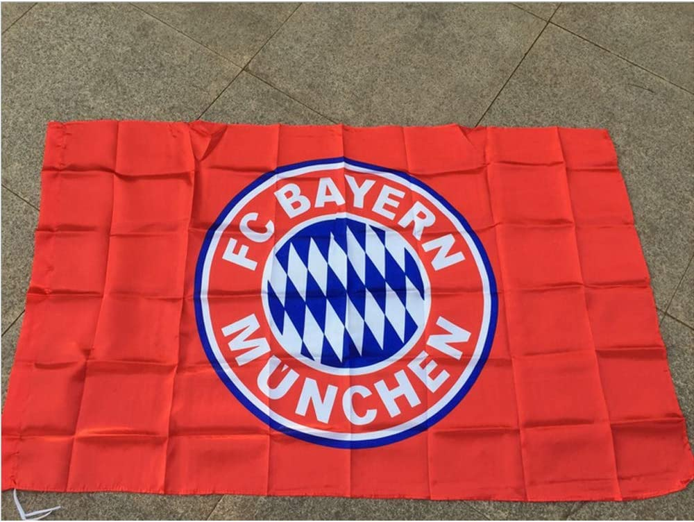 RBTT F/ür Bayern M/ünchen-Team-Flagge Fu/ßball-Fans Fahnen Fu/ßball Meisterschaft Schal Flagge Vereinswettbewerb Liga Cheer Requisiten Banner