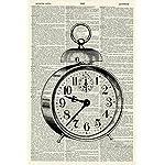 Vintage Clock Art Print - Vintage Art Print - Vintage Dictionary Art Print - Black & White - Book Art Print - WALL ART - Illustration - Picture - Wall Hanging - Home Décor - ARTWORK 731D 5
