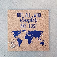 Amazon.com: Push Pin Cork Travel Map of the United States/Wanderlust ...