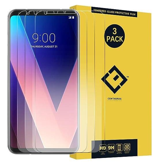 Amazon.com: LG V30 Protector de visualización de vidrio, (3 ...