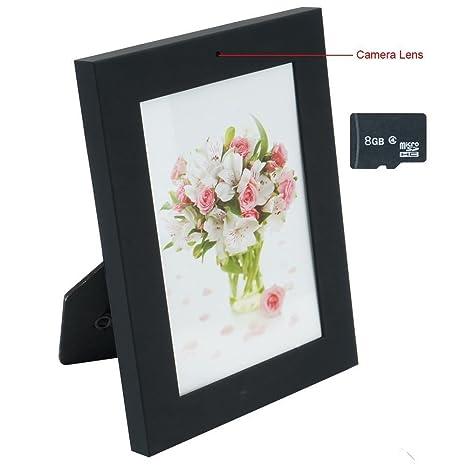 Amazon.com : Romhn 8GB Photo Frame Hidden Camera Indoor Home Bedroom ...