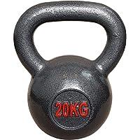 Vivol Kettlebell 20 kg gietijzer - kogelhalter gietijzer training gewicht voor gym, crossfit en fitness thuis - van 6 kg…