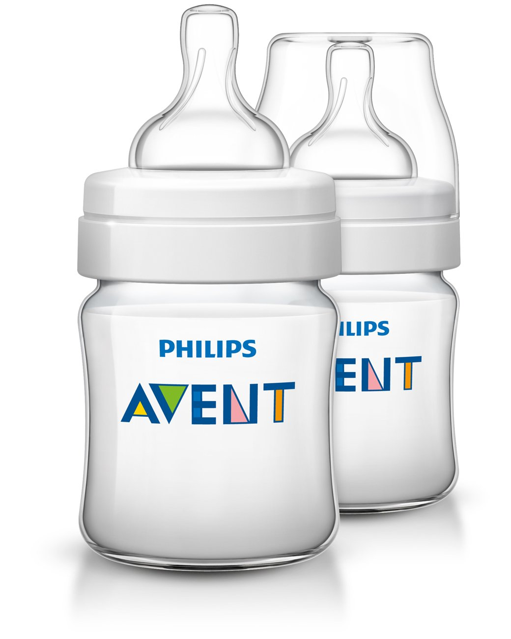 Philips Avent Classic Plus Baby Bottles, 4 Ounce (2 Pack)