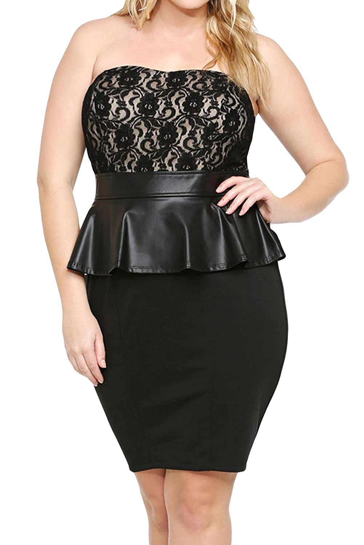 E-Girl Women Black SY21376M Club Dress