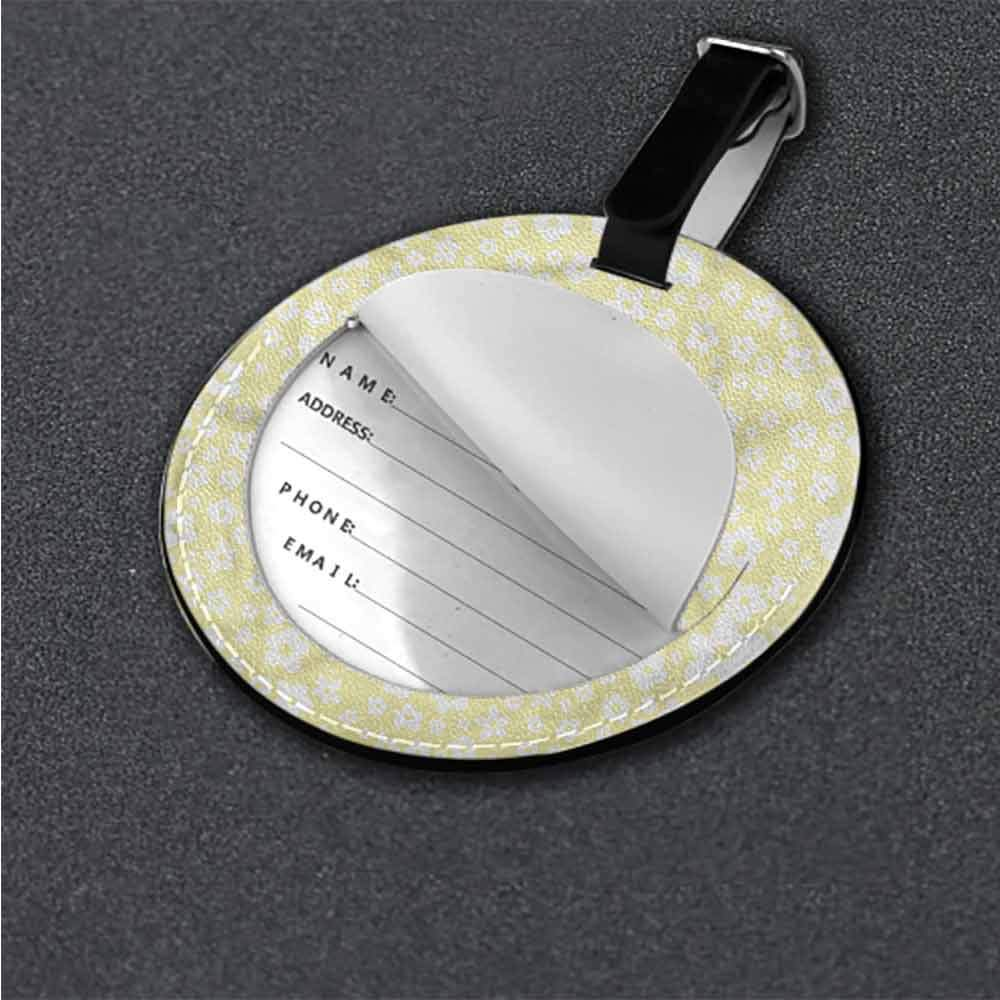 New Suitcase Luggage Tags Floral,Spring Blossoms Oriental Holder Portable Label