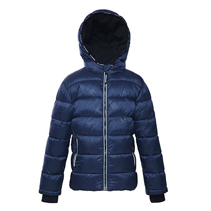 online Clearance sale fast delivery Rokka&Rolla Boys' Water-Resistant Hooded Heavy Padded Coat Thickened  Quilted Lined Parka Anorak Puffer Jacket