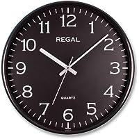 Regal 0250 BB İnce Çerçeve Slim Siyah Kadran Sessiz Akar Ev Ofis Tipi Klasik Duvar Saati 30 Cm