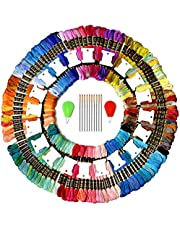 COLORED BIRD Total 142 Kits Included 110 skeins Embroidery Floss Friendship Bracelet Thread Strings with Free Set of 20 pcs Organizer Floss Bobbins 10pcs Needles&2pcs Colorful Needle threaders
