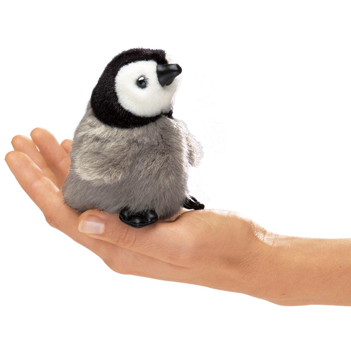 Folkmanis Mini Emperor Penguin Baby Finger Puppet Folkmanis Puppets 2680