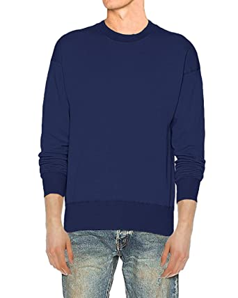 MODCHOK Homme T Shirt à Manches Longues Tee Pull Top Col