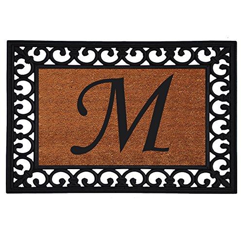 Mongram Letter - Home & More 180041925M Inserted Doormat, 19