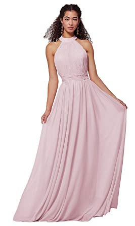 Ufashion Women S Halter Neck A Line Bridesmaid Dresses Long Chiffon