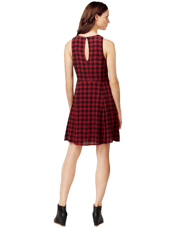 Sanctuary Womens Sleeveless Plaid Dress