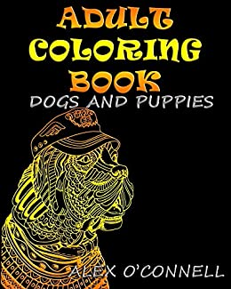 cf8e02bdc929 Amazon.com: Adult Coloring Books: Dog Coloring Book For Grownups ...