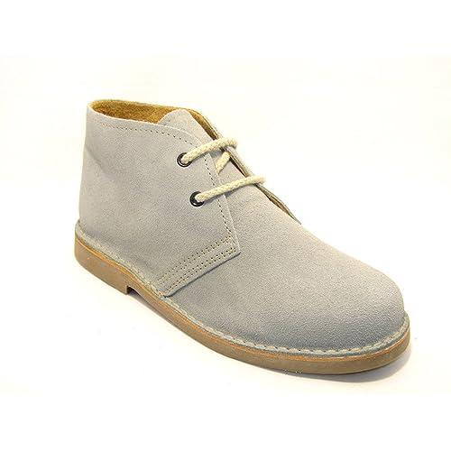 e5e3411cf 807FP - Bota safari con forro de piel gris  Amazon.es  Zapatos y ...