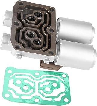 Cuque Transmission Shift Solenoid 5-Pcs Car Automatic Transmission Control Solenoid Valve Kit for Honda Accord CR-V RSX 28400-PRP-004
