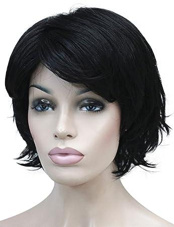 Wiginway Short Wavy Wig Black Synthetic Wig