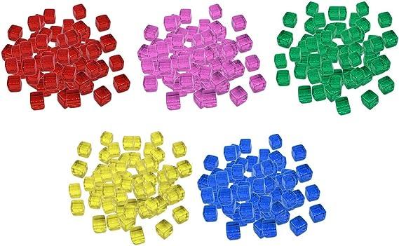 sharprepublic 500 Pedazos Juego de Mesa Dados de Acrílicos Coloridos Bloque de Cubos Juego de Diversión para Niños 10mm: Amazon.es: Juguetes y juegos