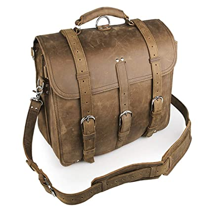 6cfb02b87255 Men's Leather Briefcase Vintage Leather Notebook 17
