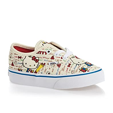 e8f205207a Amazon.com | Vans Girls' Authentic Hello Kitty (Toddler), Red/White ...