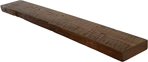 Floating, Wood Shelf, Reclaimed, Rustic, Shelves, 1800 s, Antique, Vintage, 60 Wide x 7 deep x 2 Thick