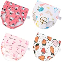 U0U Baby Girls' 4 Pack Cotton Training Pants Toddler Potty Training Underwear for Boys and Girls 12M-4T