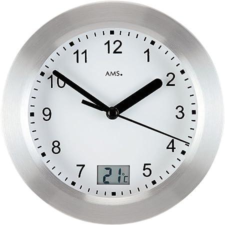Ams 9223 Quarz Wanduhr Mit Temperatur Anzeige Tischuhr Badezimmer Uhr Baduhr Neu Amazon De Kuche Haushalt
