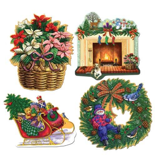 Pkgd Christmas Holiday Cutouts   (Christmas Stocking Cutouts)