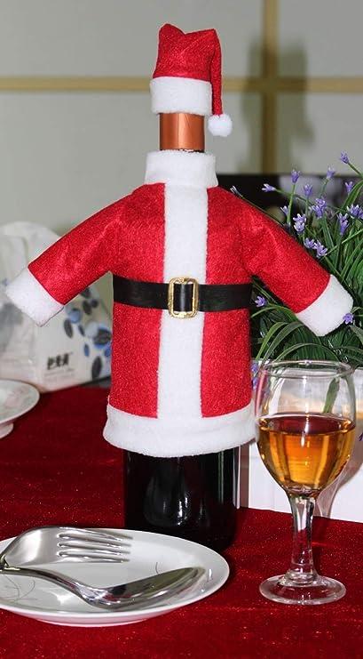 HOUSE CLOUD Funda para Botella de Vino Bolsa con Navidad Papá Noel Puede sorprender A Nadie Sus Amigos: Amazon.es: Hogar