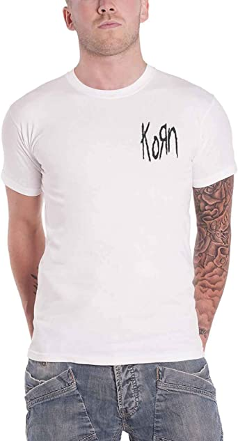 White T-Shirt \m//-\m// Korn Serenity of Suffering