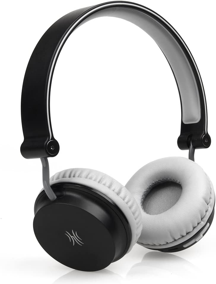 Lightweight Headphones On-Ear Foldable Headsets with 6.3mm Stereo Adapter and Audio Splitter for AMP, Guitar, Piano, School Adult Teens