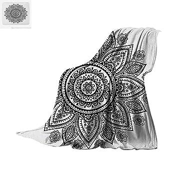 Amazon Com Henna Custom Design Cozy Flannel Blanket Sunflower