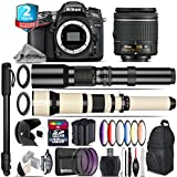 Holiday Saving Bundle for D7100 DSLR Camera + 650-1300mm Telephoto Lens + AF-P 18-55mm + 500mm Telephoto Lens + 6PC Graduated Color Filter Set + 2yr Extended Warranty + 32GB - International Version