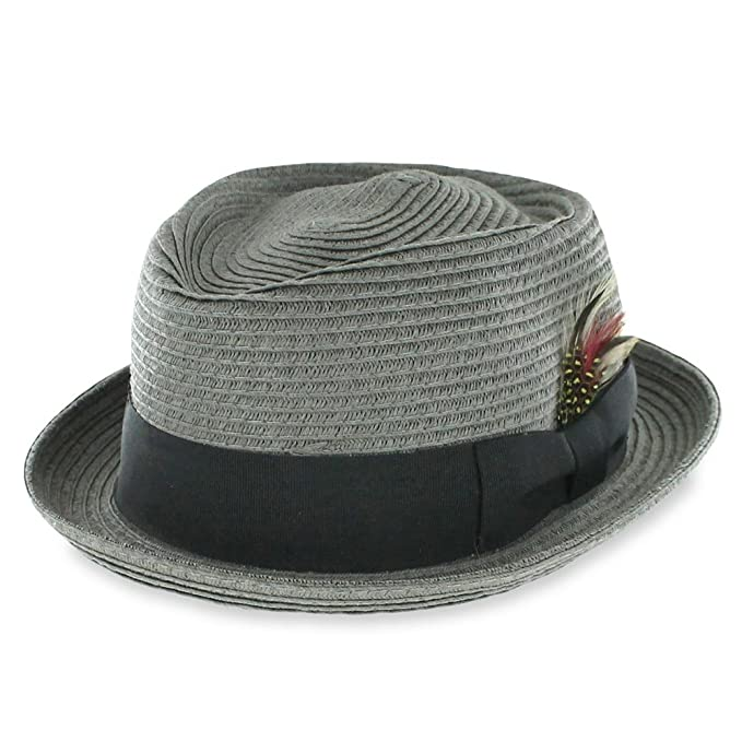 ce267e919 Belfry Men/Women Summer Straw Pork Pie Trilby Fedora Hat in Blue ...