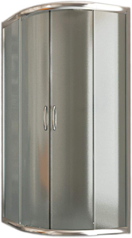 Idralite Box Mampara de Ducha Semicircular 90x90 H185 Impreso C 5mm Mod. Matrix: Amazon.es: Hogar