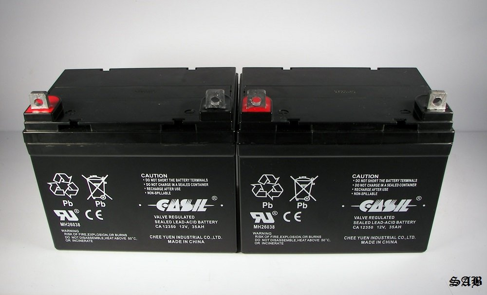(2) Casil 12v 35ah for U1 Hoveround MPV1, MPV2, MPV3, MPV4, MPV5 Battery by Casil