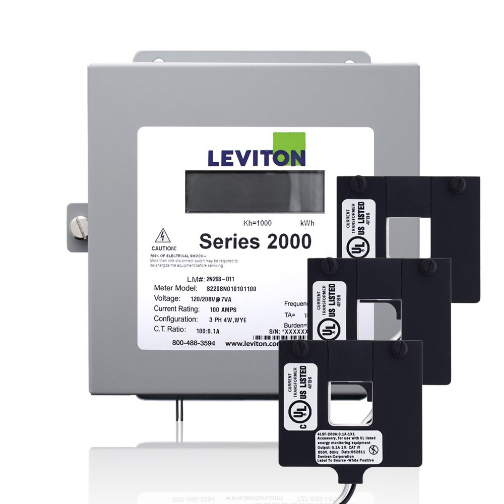 Leviton 2K208-4W Series 2000 208V 3P4W 400A Indoor Kit with 3 Split Core CTs