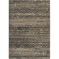 Couristan Easton Capella Runner Rug, 27 x 710, Black/Grey
