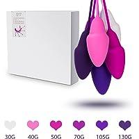 Boules de Geisha Kegel Balls Rééducation Silicone Kit de 6 Boule de Massage pour Formation des Muscles du Plancher pour Exercice Kegel